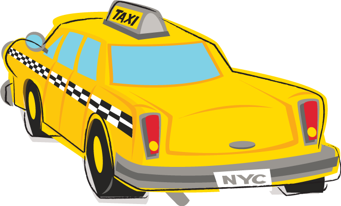New york taxi clipart.