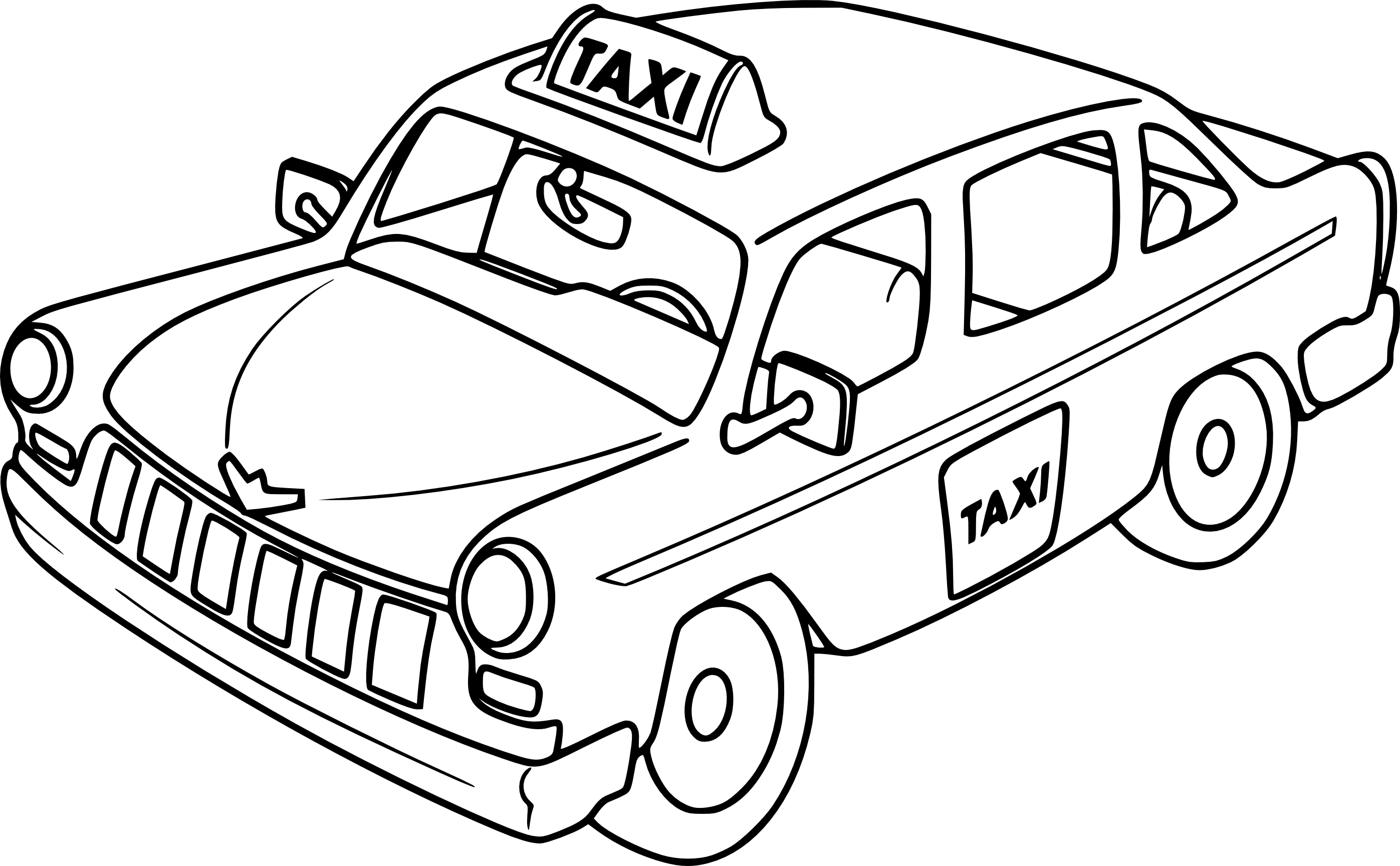 Taxi clipart black and white 10 » Clipart Station.