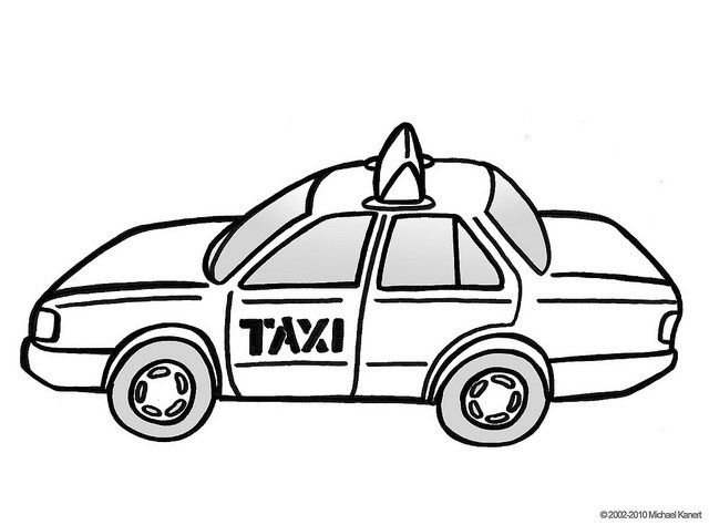 Taxi black and white clipart 3 » Clipart Portal.