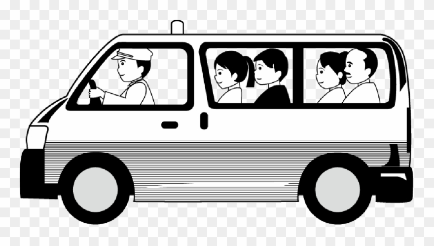 Taxi Clipart In Black And White.