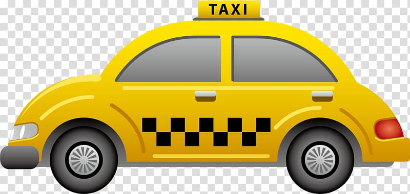 Yellow taxi illustration, Taxi Icon, Taxi elements.