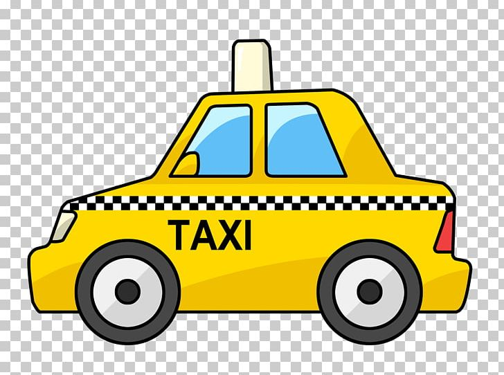 Taxi Cartoon Yellow Cab PNG, Clipart, Area, Automotive.
