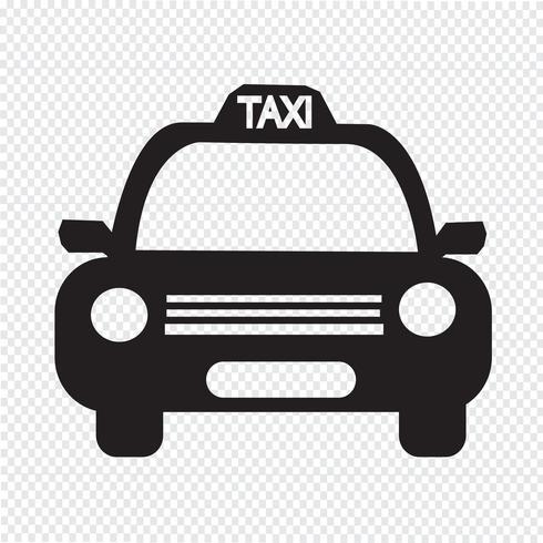 Taxi Car Icon.