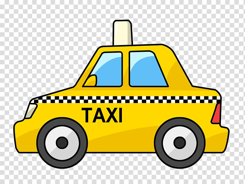 Taxi transparent background PNG cliparts free download.