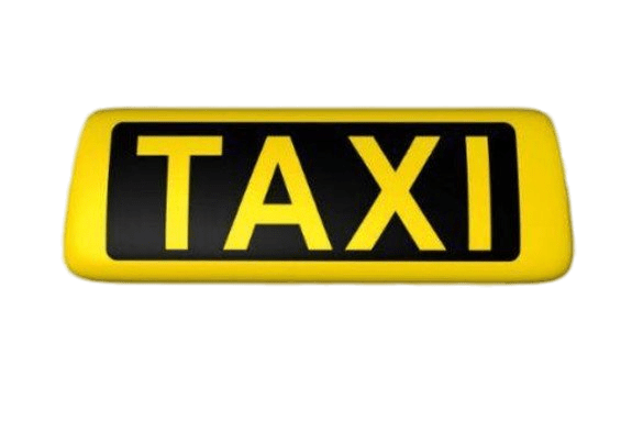 Yellow Taxi Sign transparent PNG.
