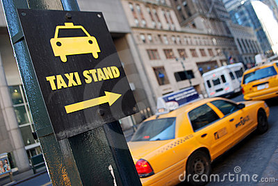 Taxi Stand Royalty Free Stock Image.