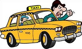 Free Taxicab Driver Clipart.