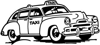 Taxicab Stock Illustrations.