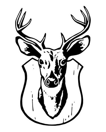 Deer Mount Art Clipart.