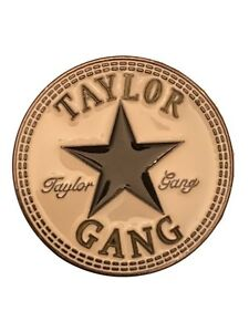 Details about Wiz Khalifa TAYLOR GANG Logo Metal Enamel BELT BUCKLE.