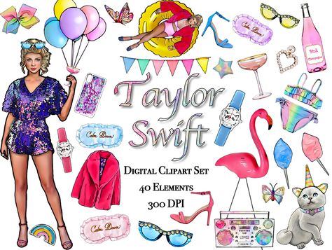 Taylor Swift Clipart, Taylor Swift Graphics, Taylor Swift.
