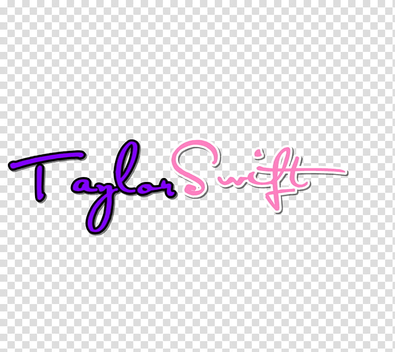 Taylor Swift Text transparent background PNG clipart.