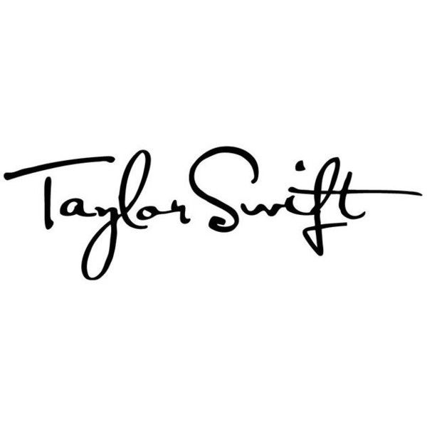 Taylor Swift Autograph ❤ liked on Polyvore featuring.