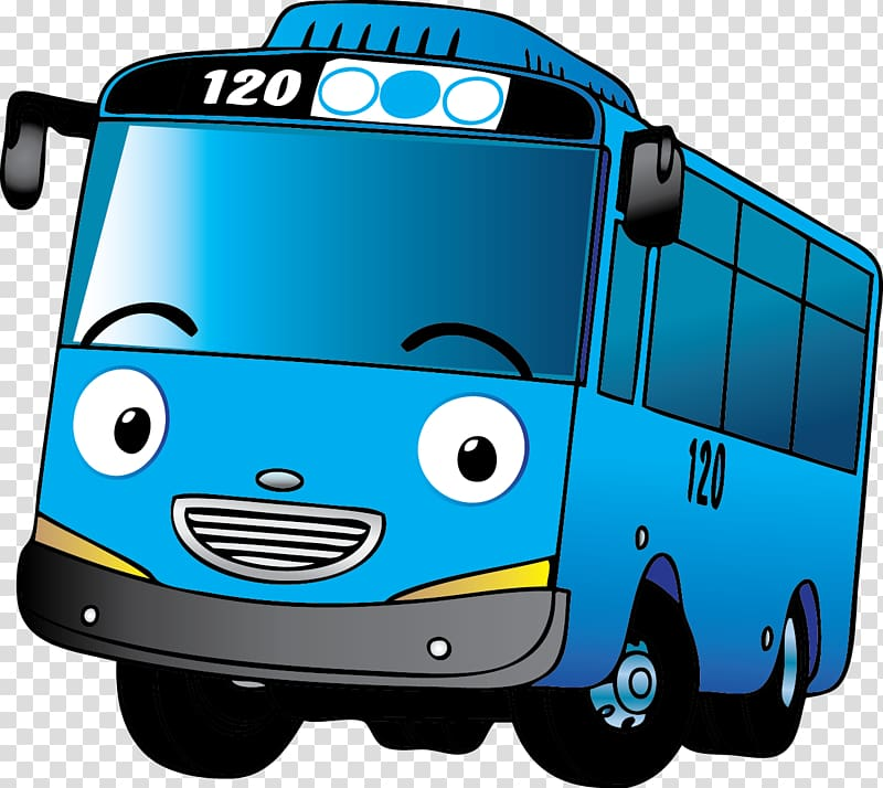 Car Motor vehicle Bus Mode of transport, tayo, blue bus.