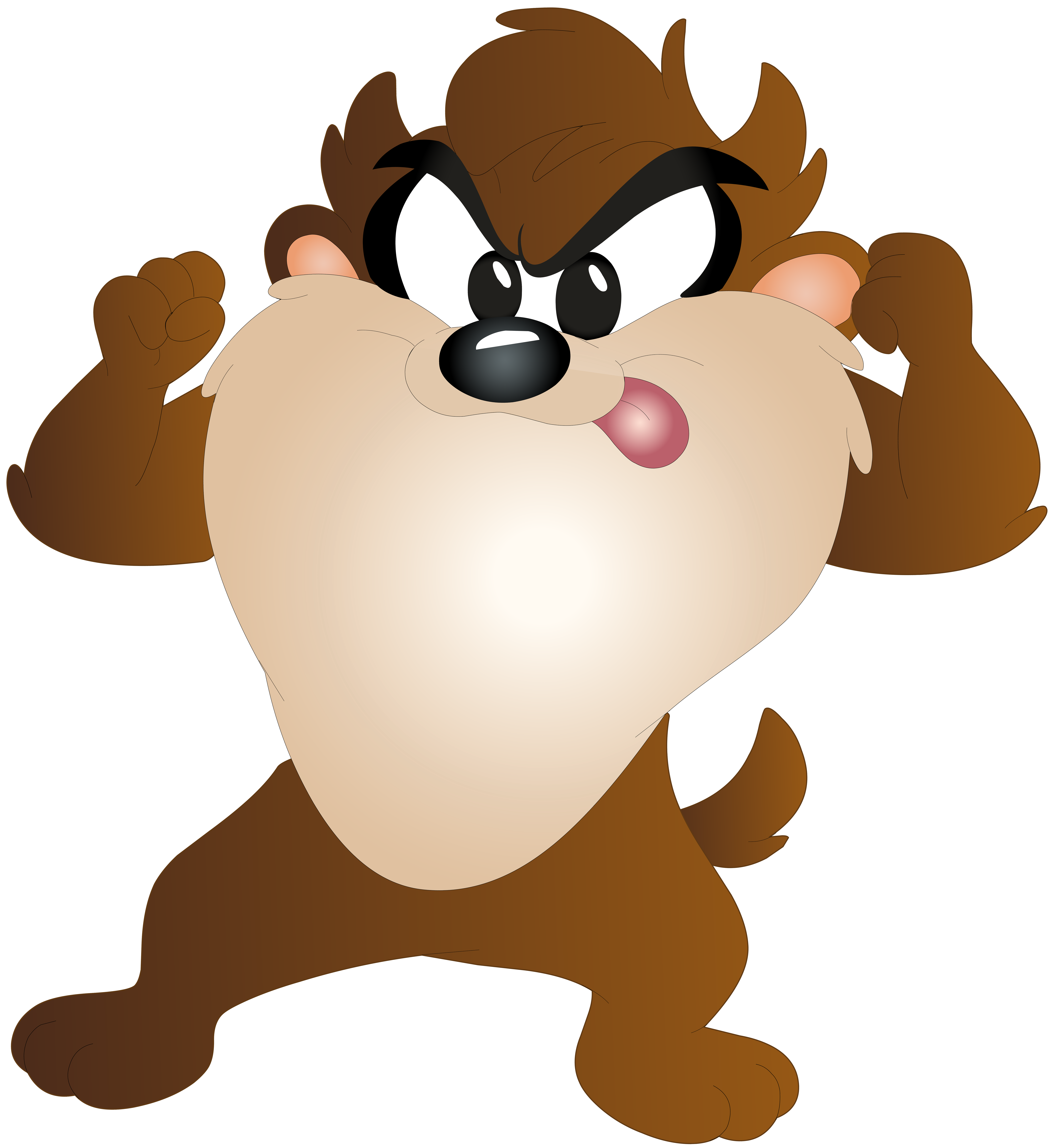 Taz Kid Cartoon Free PNG Clip Art Image.