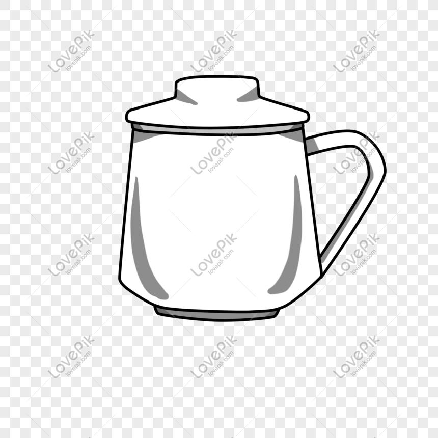 linda taza blanca para las necesidades diarias Imagen.