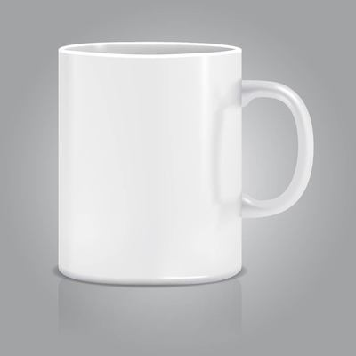 Realistic White Cup.
