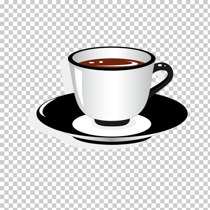 Platillo de la taza de café, taza de té PNG Clipart.