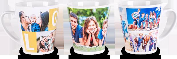 Fototaza Latte: taza personalizada en forma de cono con tu.