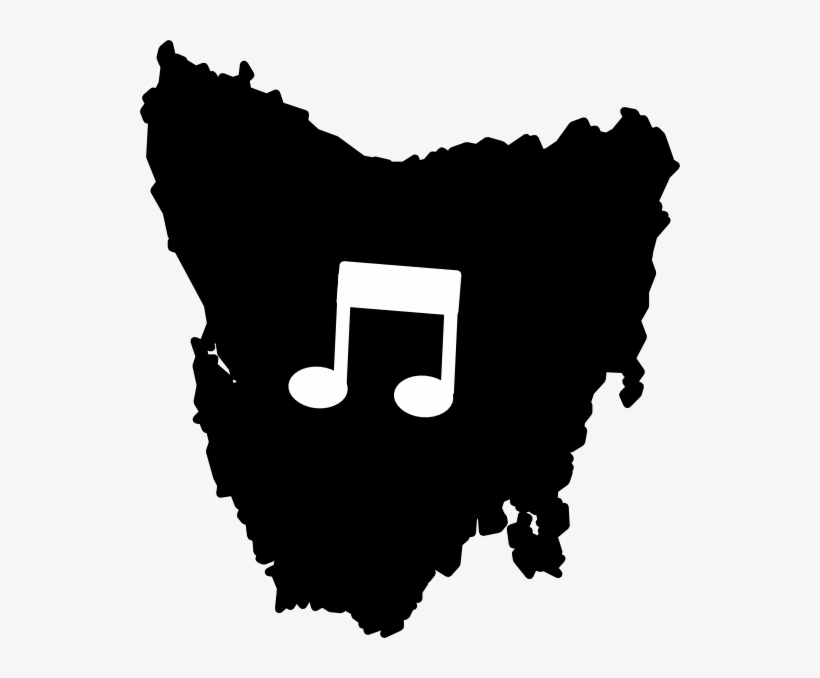 This Free Clipart Png Design Of Tasmania Music Notes.