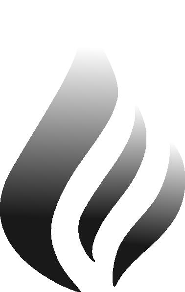 B&w Flame Logo Clip Art at Clker.com.