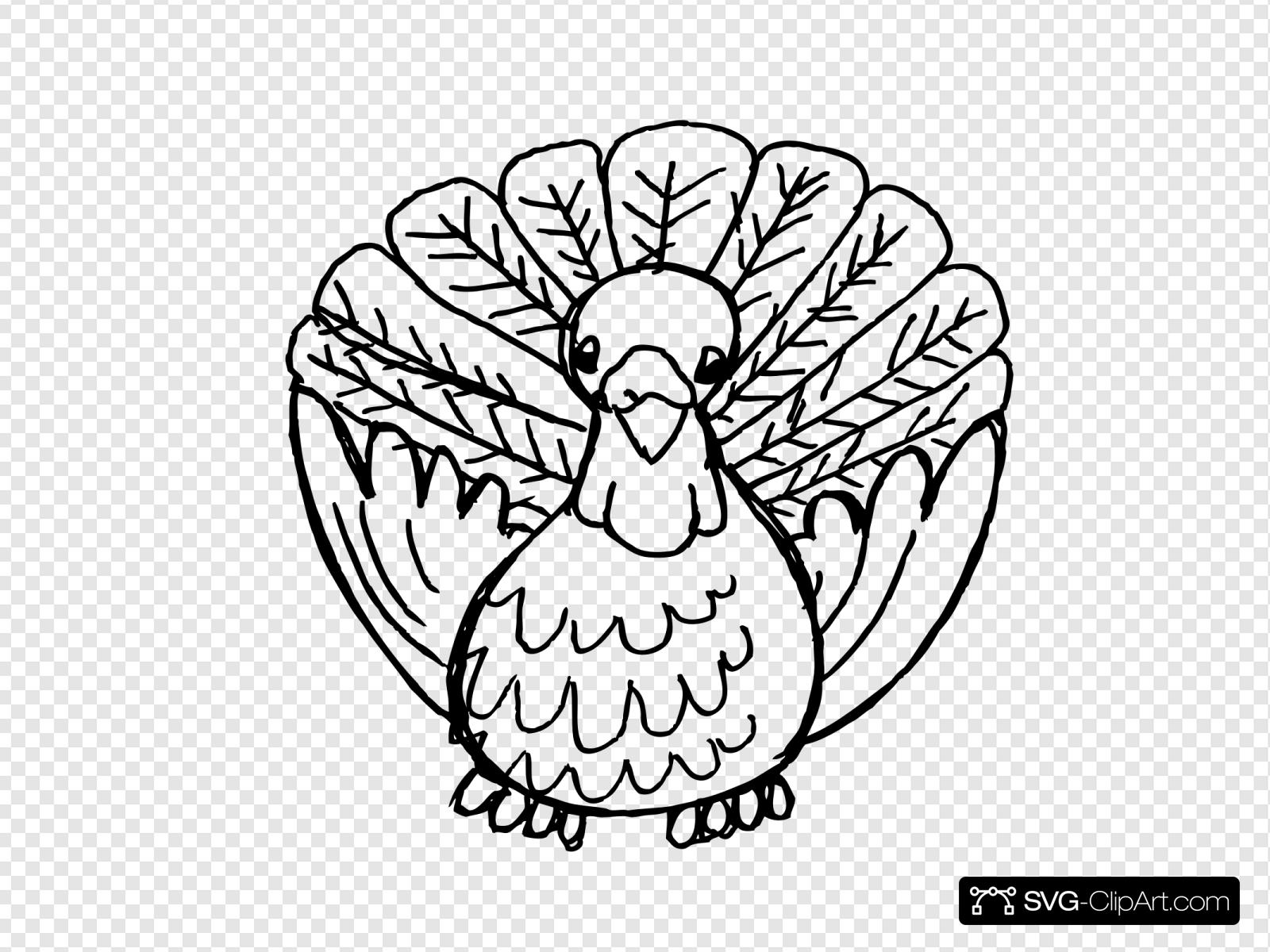 Turkey Black And White Clip art, Icon and SVG.