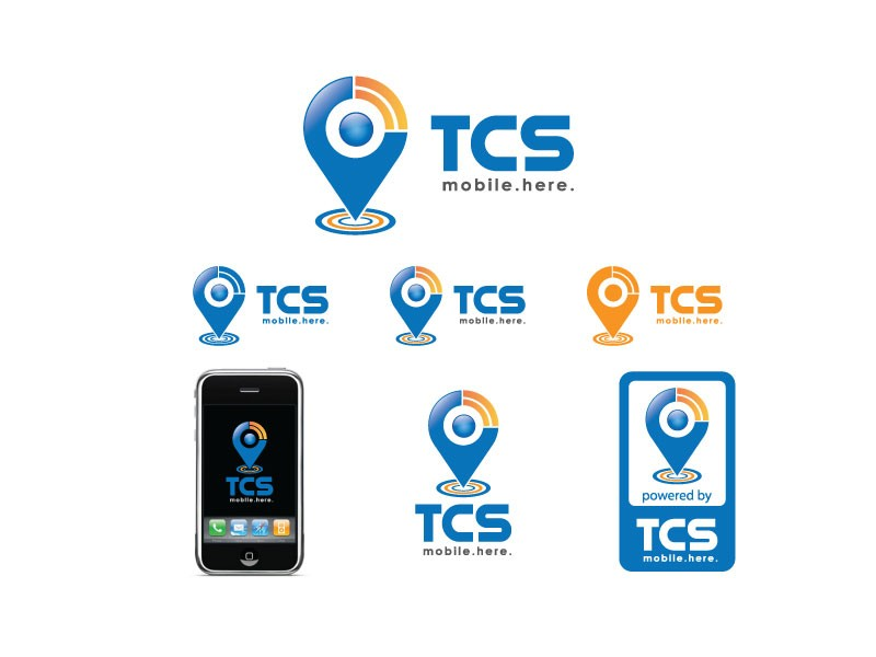 Create the next logo for TCS. mobile. now..