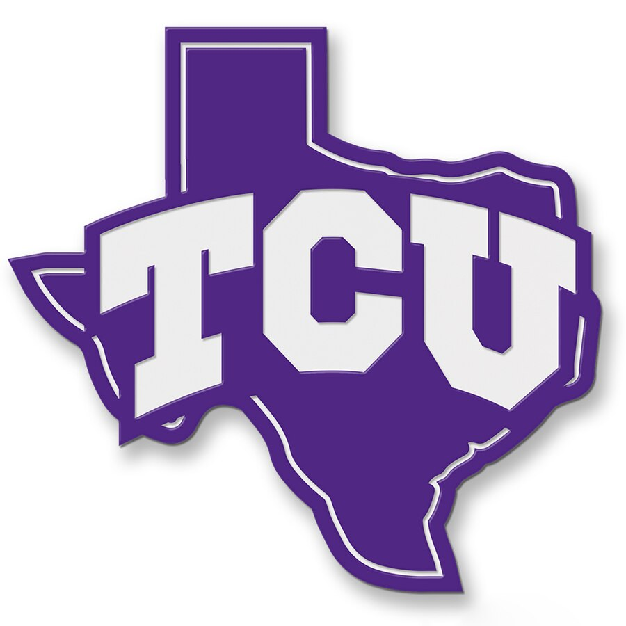 TCU Horned Frogs Premium Steel Hitch Cover.
