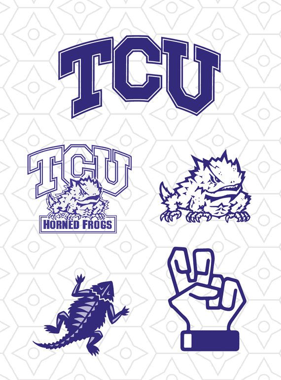 TCU Horned Frogs Sports Team Logo Collection by.