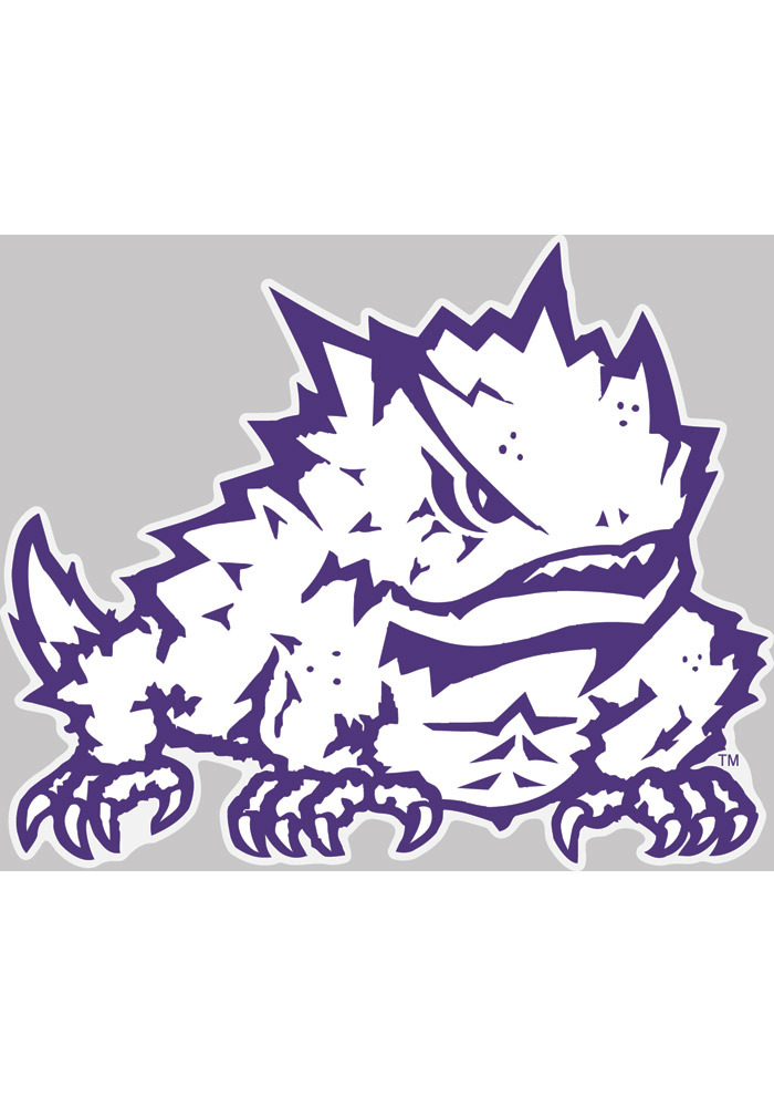 TCU Horned Frogs 4x5 logo Auto Decal.