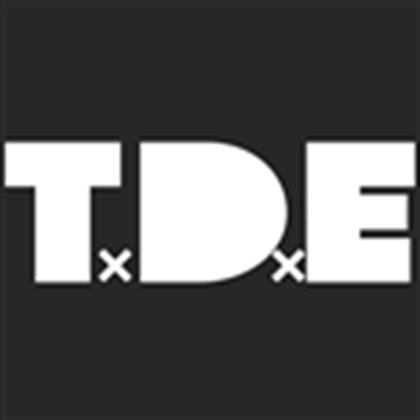T.D.E Logo (Black).