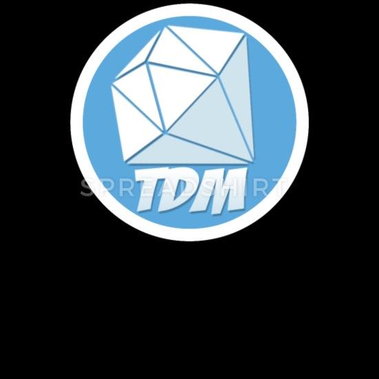Dan TDM Logo Diamond Men\'s Zip Hoodie.