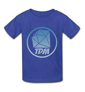 Details about Kid\'s The Diamond Minecart DAN TDM Logo T.
