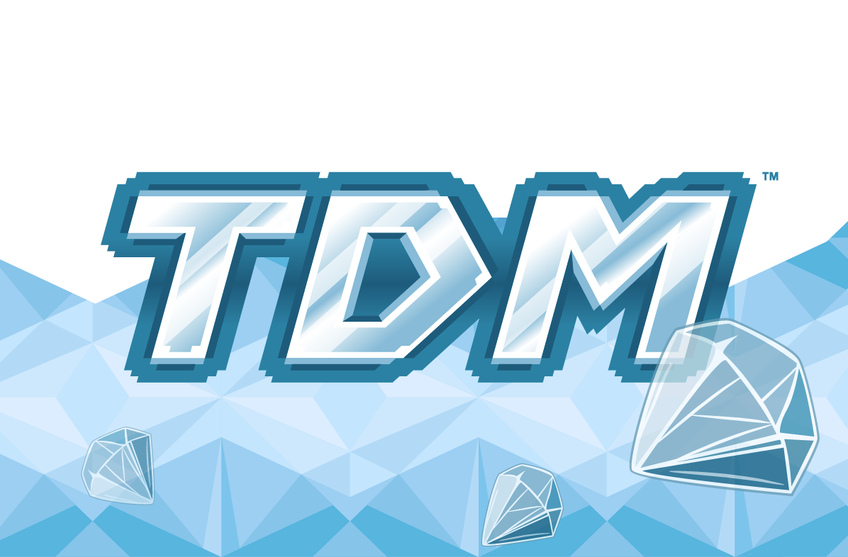 TDM logo created for Tube Heroes (DAN The Diamond Minecart.