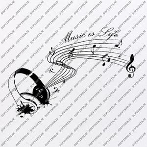 Music is My Life Svg File.