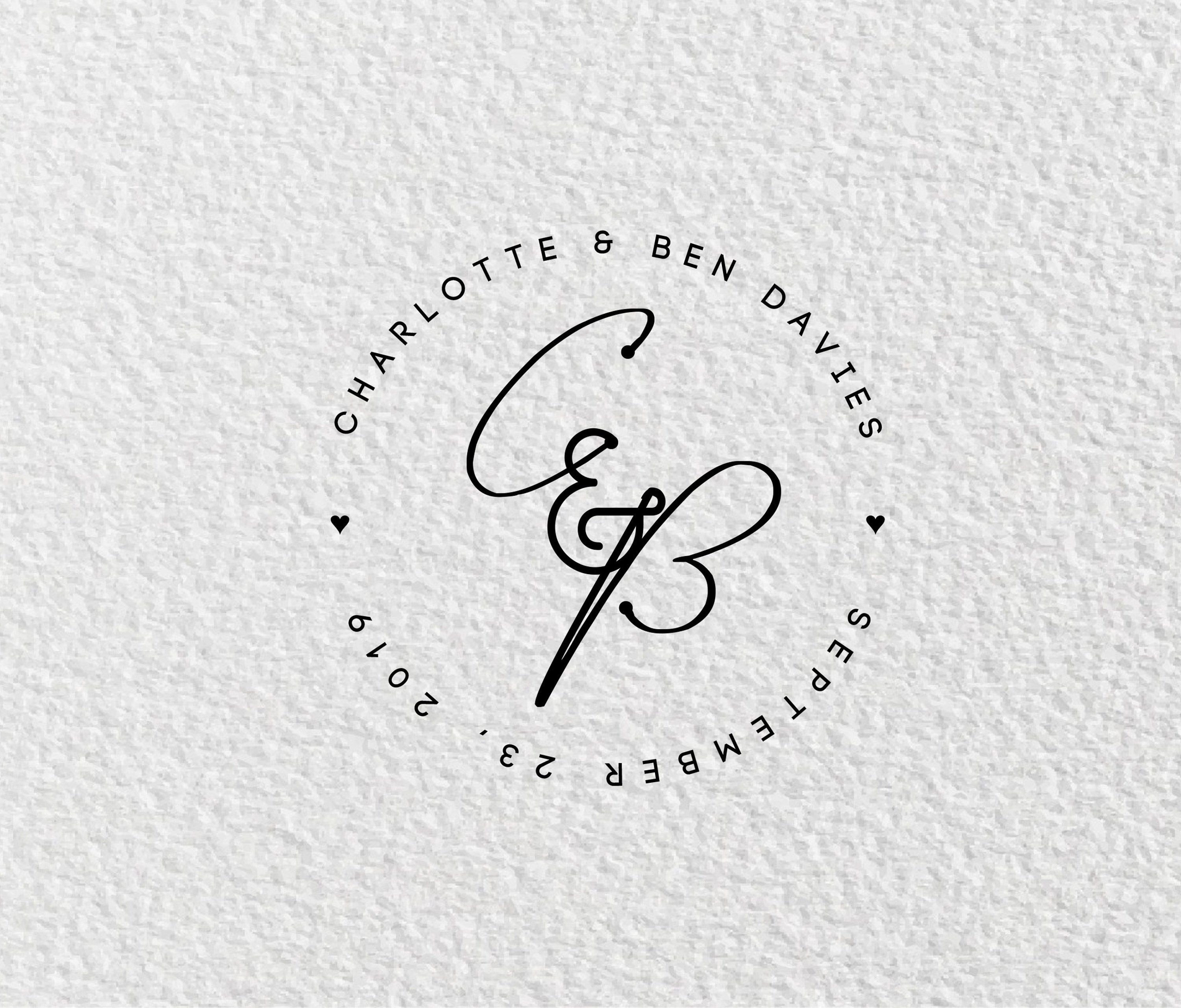 Personalised Wedding Logo, Wedding Logo Design, Couples Logo.