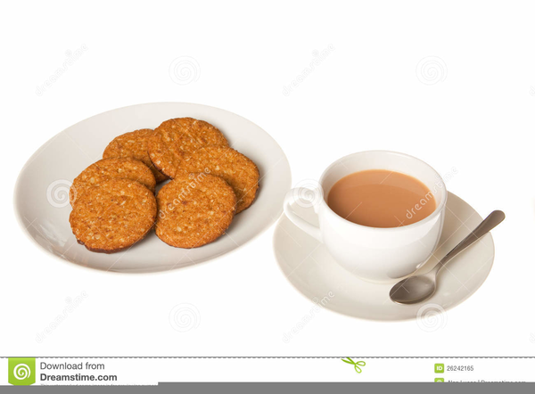 Cup Of Tea And Biscuits Clipart.