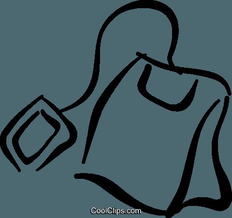 Teabag Royalty Free Vector Clip Art illustration.