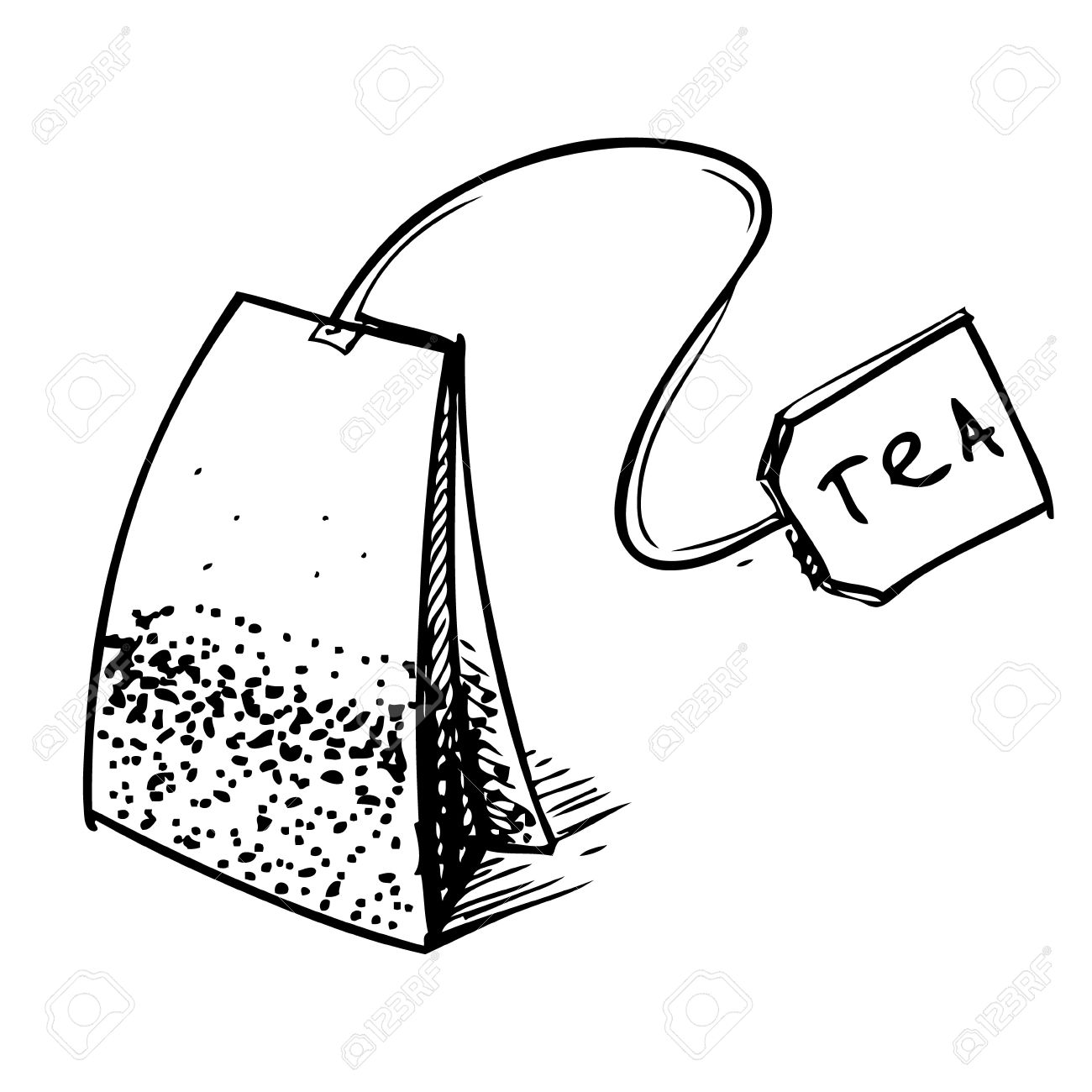 Free clipart tea bag.