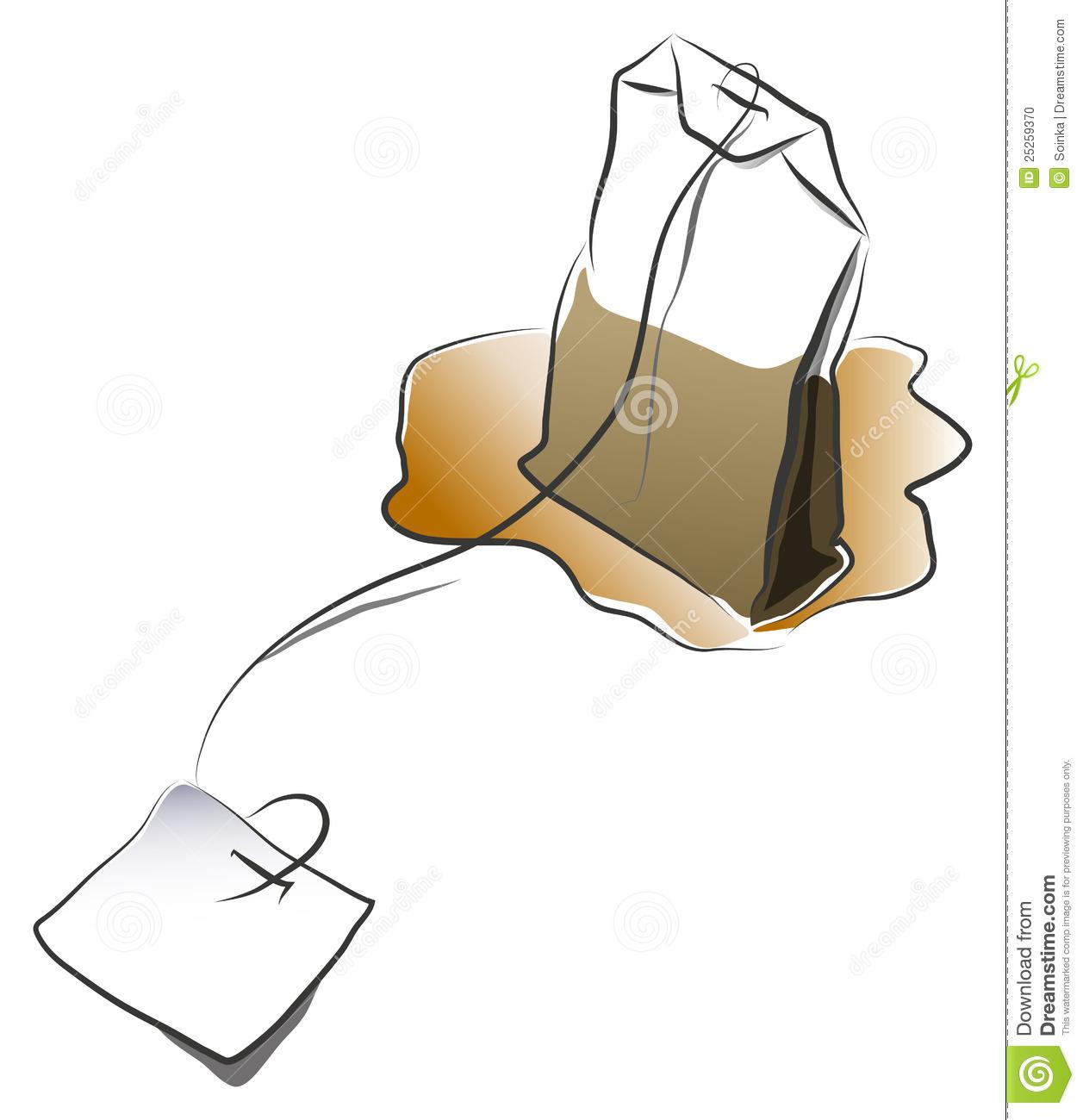 Tea Bag Clipart.