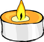 Tea candle clipart.