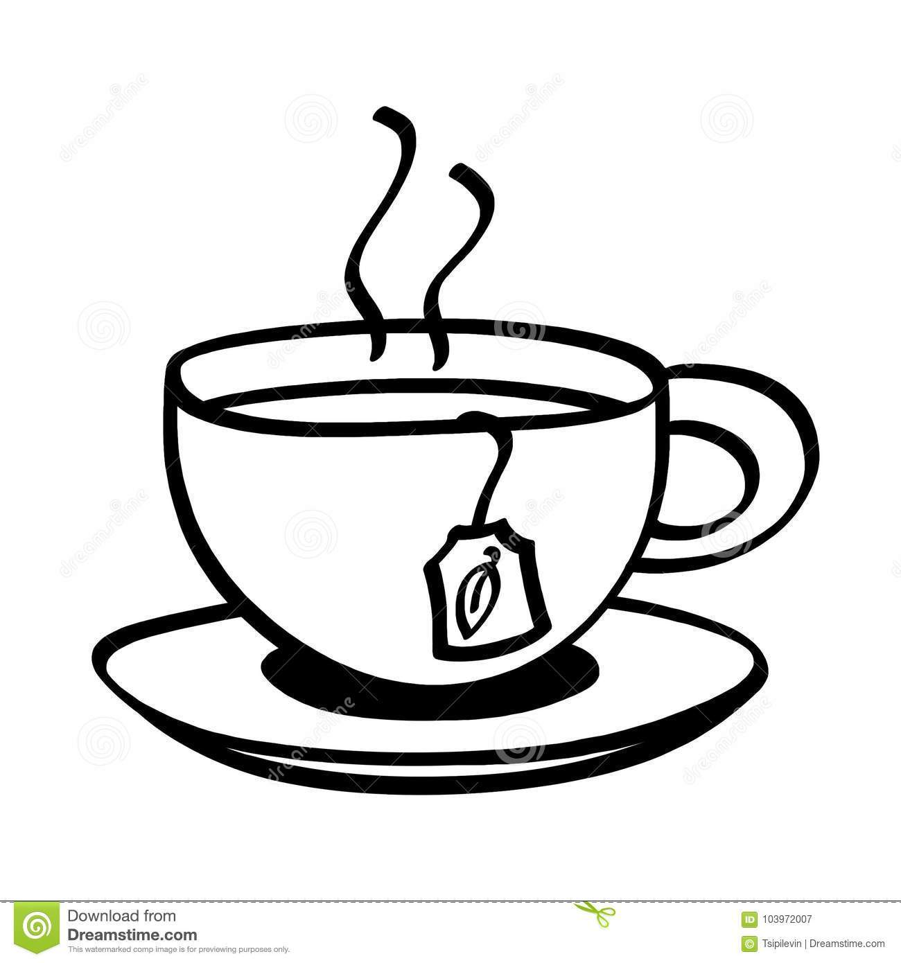 Cup of tea clipart black and white 3 » Clipart Portal.