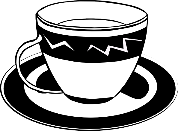 Download Free png tea clipart black and white.