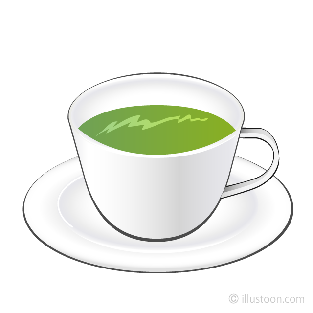 Green Tea Clipart Free Picture|Illustoon.