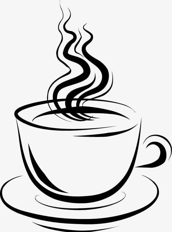 Ink Pattern Of Hot Tea PNG, Clipart, Coffee, Cup, Hot, Hot.