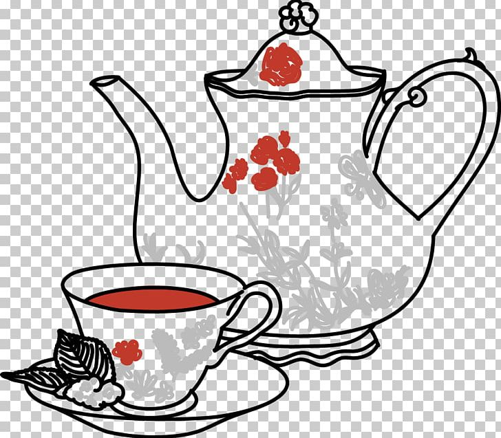 Teapot Coffee Masala Chai Toast PNG, Clipart, Artwork, Black.