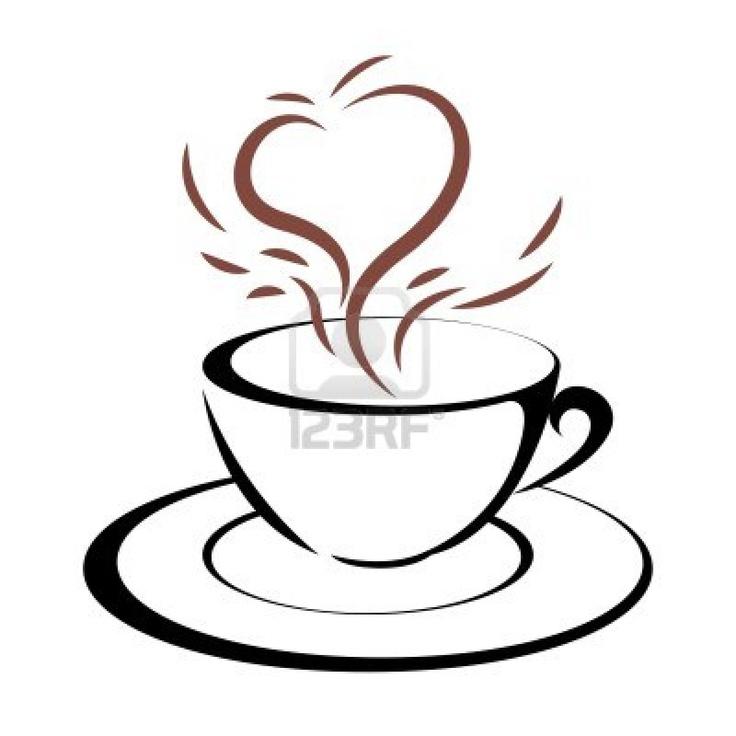 Heart clip art tea cup.