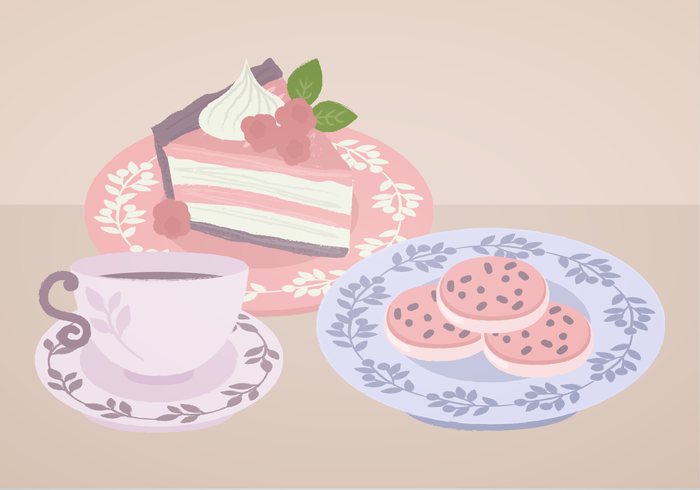 Vector Teacup Illustration.