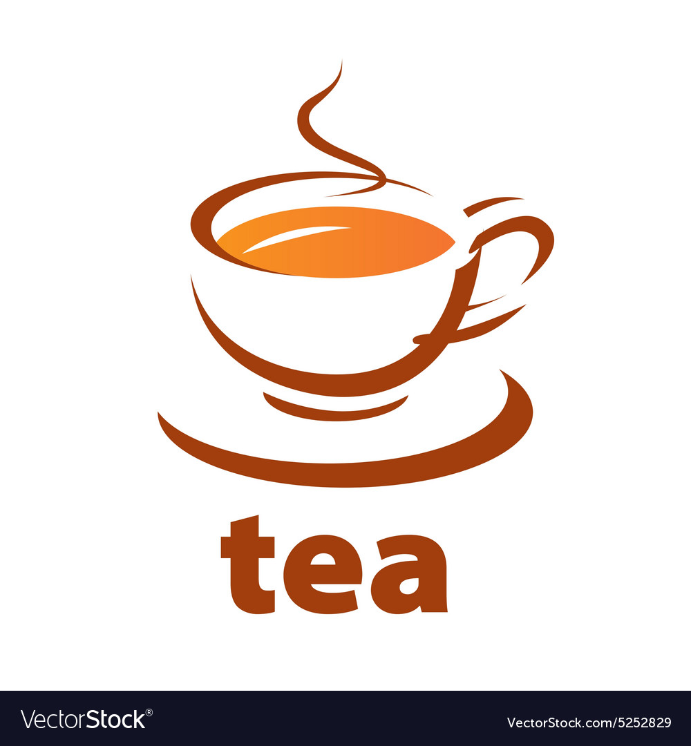 Logo contour cup of tea.