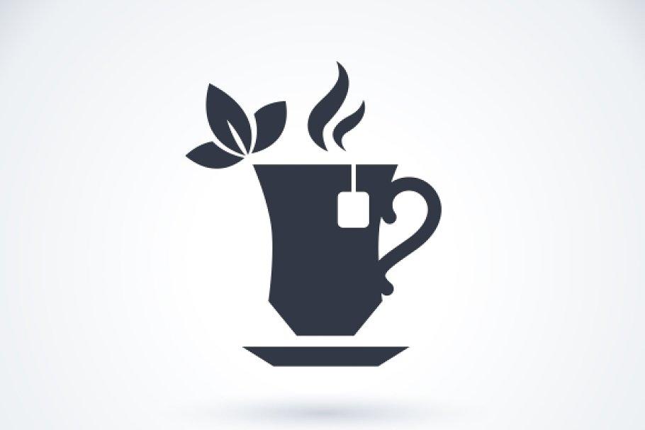 Tea cup logo.